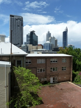Balcony View from a West Perth apartment