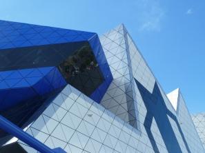 Blue against blue