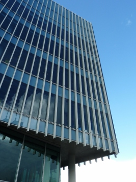 The curved facade of 140William
